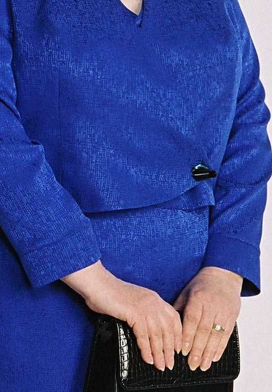 Tuxedo Wrap Vest, Button Front Blouse