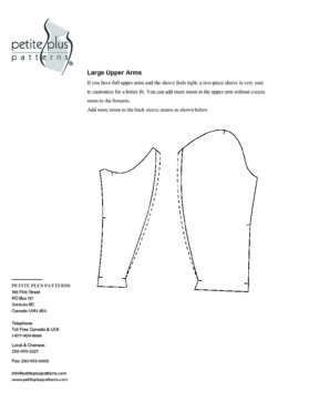 Increase Two-Piece Sleeve for Full Upper Arm