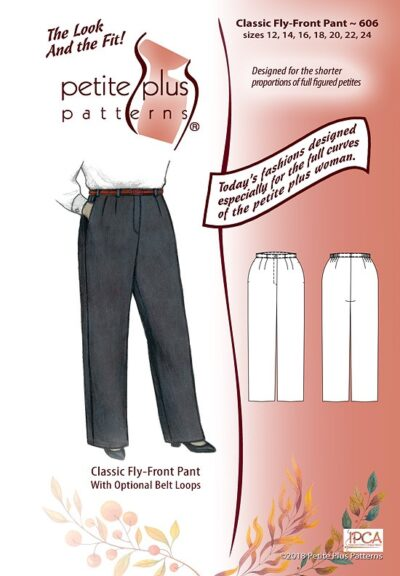 Classic Fly-Front Pant 606, pattern cover