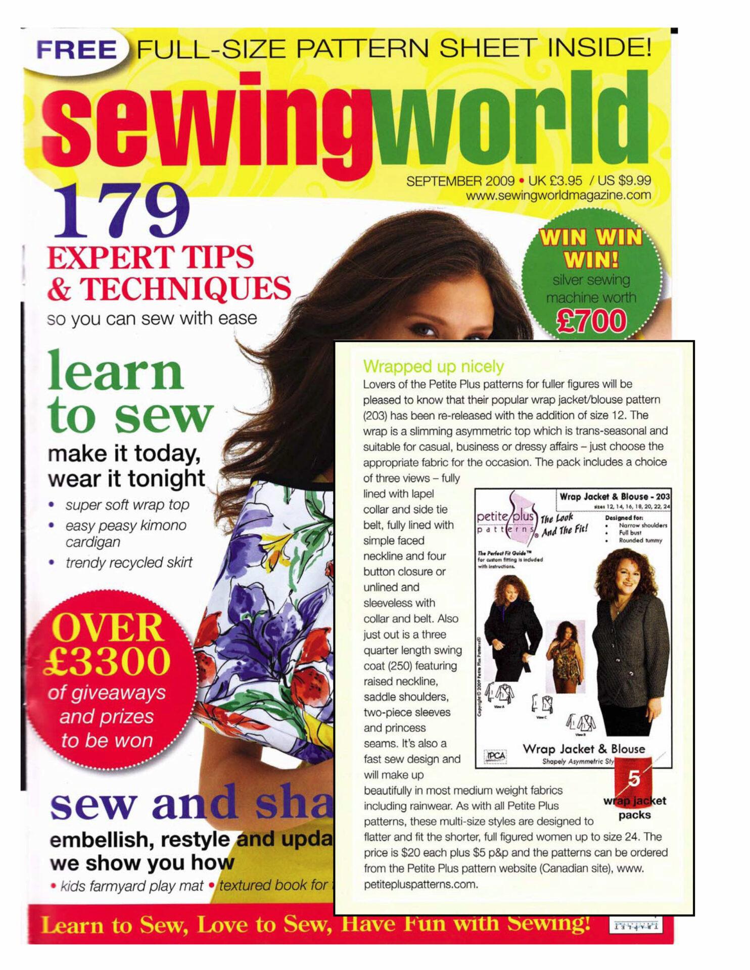 Press reviews sewing world uk sept 2009 jeuxipadfo Choice Image