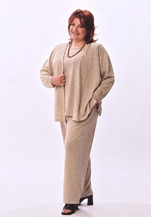 Sweater Twin Set, Flat Front Pant
