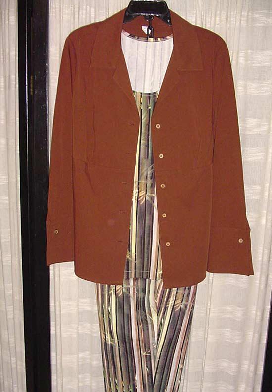 Shapely Shirt, Sweater Twin Set, Capri Pants