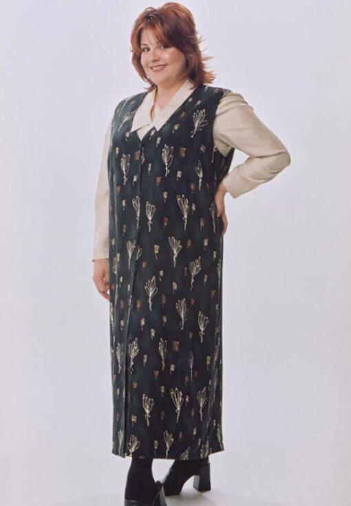 Tunic Length Vest, Short Sleeve Shell