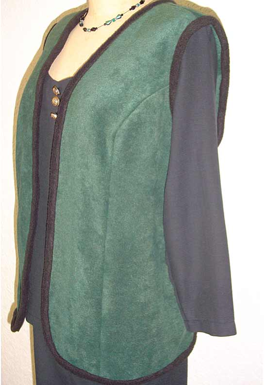 Shapely Zip Front Vest, Short Sleeve Shell