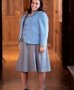 Slimming Jacket, Shapely Blouse, Flirty Skirt