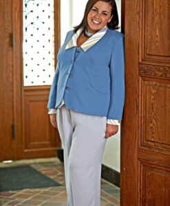 Slimming Jacket, Shapely Blouse, Classic Fly Front Pant