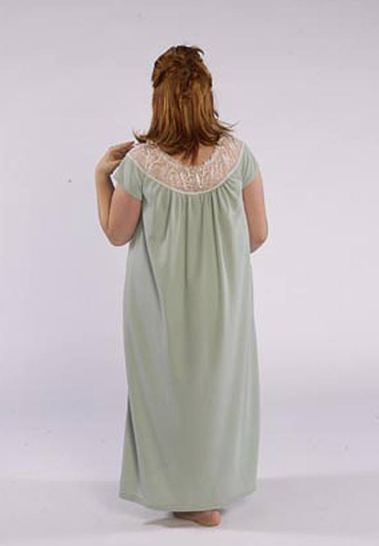 880c8b80b2b Model in cozy sleepwear gown made from Petite Plus Patterns 401 Nightgown  PJs