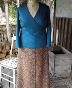 Easy Wrap Top, Flared Skirt