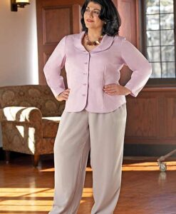 Classic Fly Front Pant, Shapely Blouse