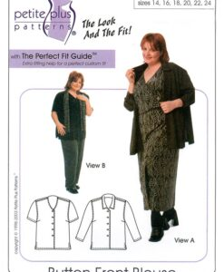 Petite Plus Patterns 103, Button Front Blouse pattern cover