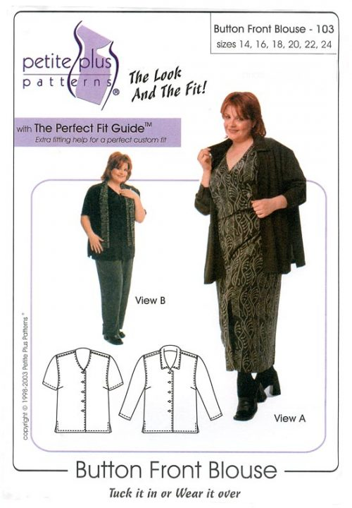 Button Front Blouse pattern