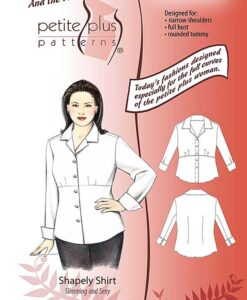 Cover, Petite Plus Patterns 104 Shapely Shirt, size 14-24, illustration, flats, Designed for Full-figured Petites