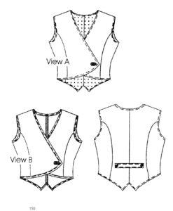 tuxedo wrap vest