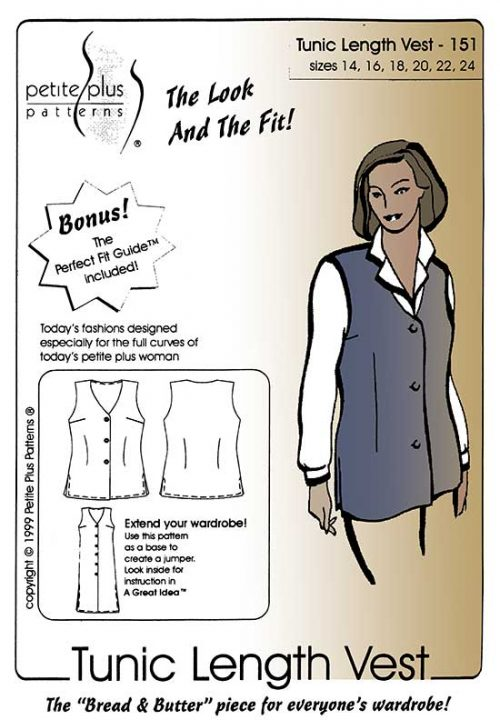 Tunic Length Vest pattern