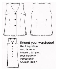 Flats, Petite Plus Patterns 151 Tunic Length Vest, two lengths