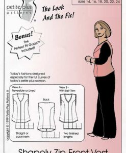 Cover, Petite Plus Patterns 152, Shapely Zip Front Vest, Size 14-24, illustration, flats, Shapely Elegant & Slimming