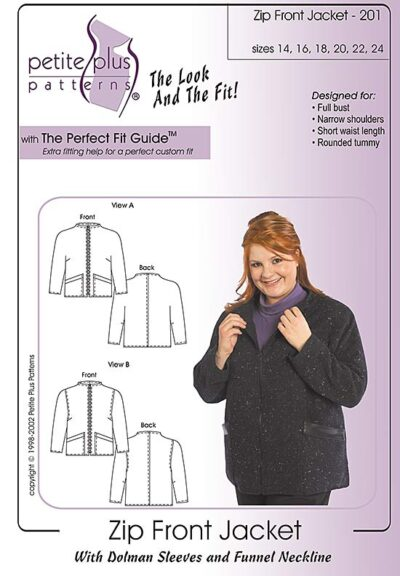 zip front jacket pattern
