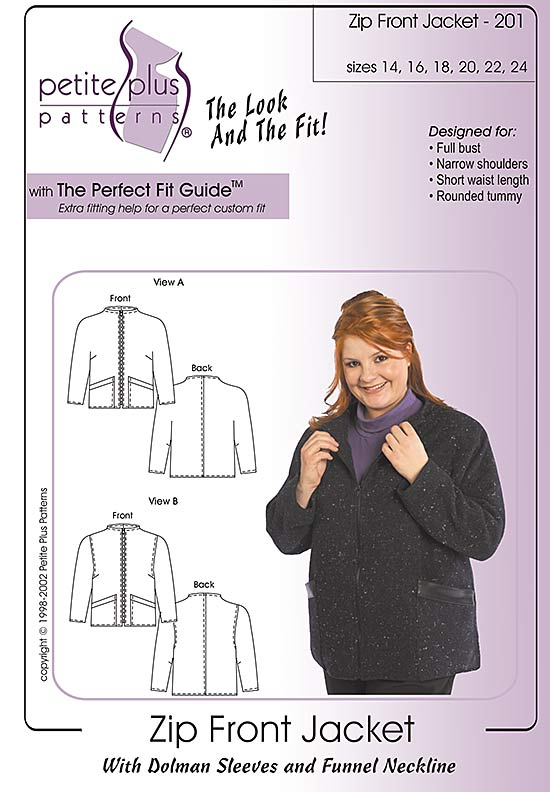 zip front jacket pattern