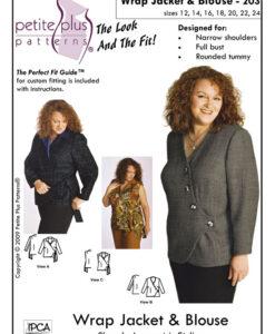 wrap jacket blouse pattern