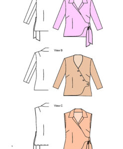 Wrap Jacket and Blouse