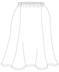 six gore skirt