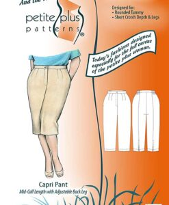 Cover, Petite Plus Patterns 604, Capri Pant, size 14-24, designed for full-figured petites, illustration, flats