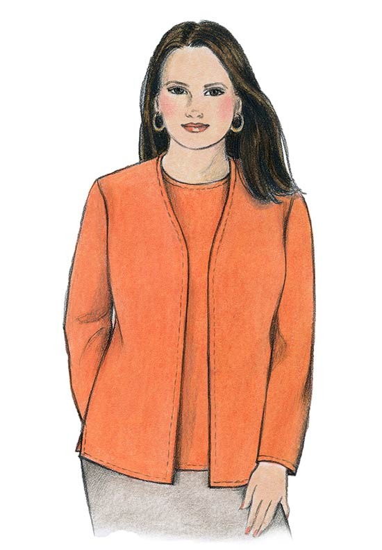 Illustration, Petite Plus Patterns 102 Sweater Twin Set