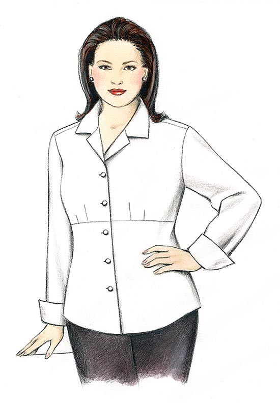 Illustration, Petite Plus Patterns 104 Shapely Shirt