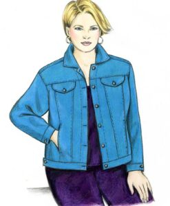 Illustration, Petite Plus Patterns 204, Jeans Jacket