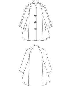 Line drawing, Petite Plus Patterns 250, Swing Coat
