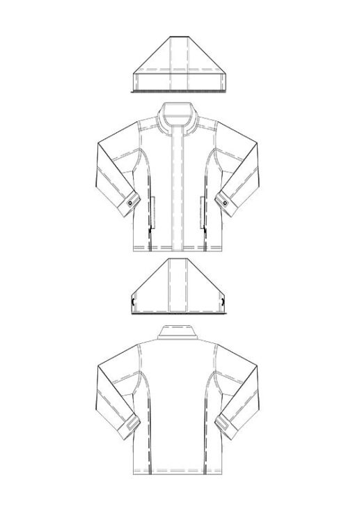 Line drawing, Petite Plus Patterns 251, Walking Jacket