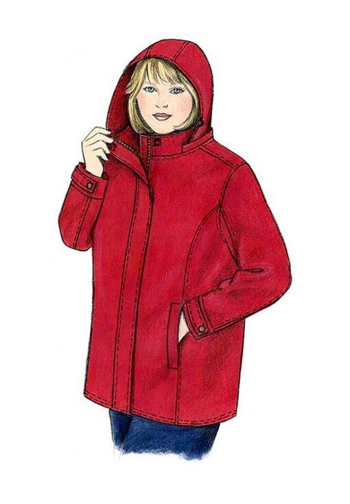 Illustration, Petite Plus Patterns 251, Walking Jacket