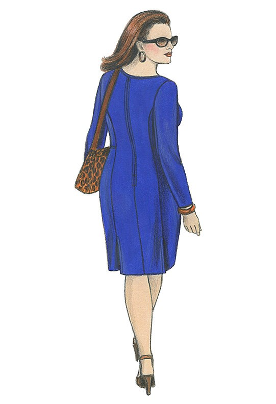 Illustration, Petite Plus Patterns 303 All-Season Dress