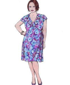 Illustration, Petite Plus Patterns 304, Easy Wrap Dress & Top