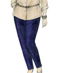 Illustration, Petite Plus Patterns 603, Tapered Pull-on Pant