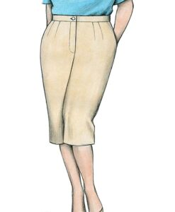 Illustration, Petite Plus Patterns 604, Capri Pant