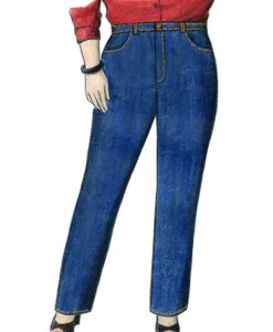 Illustration, Petite Plus Patterns 605, Jeans