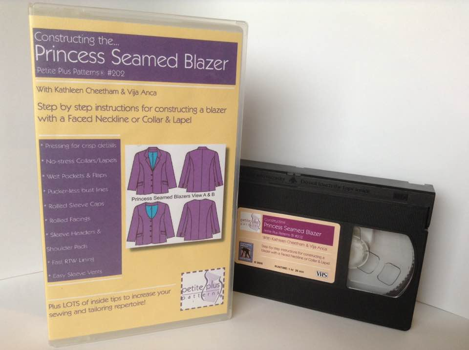 Video, VHS format, Princess Seamed Blazer, Step by Step instructions to sew, Petite Plus Patterns 202 and other jacket patterns