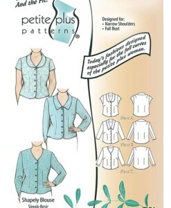 Petite Plus Patterns 106 Shapely Blouse, Size 12-24