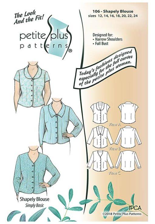 Petite Plus Patterns 106 Shapely Blouse, Size 12-24