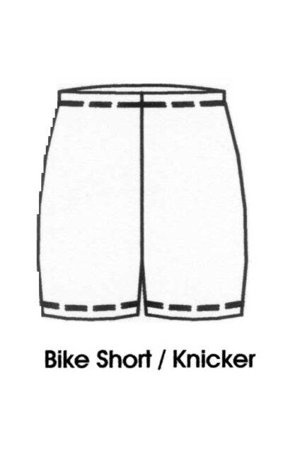 Bike Short-Knickers line drawing