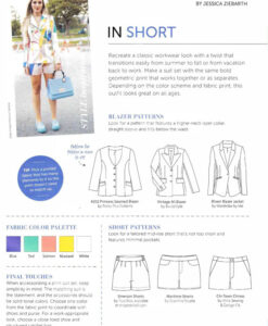Princess Seamed Blazer featured in Sew News, Sept 2018 - Get The Look