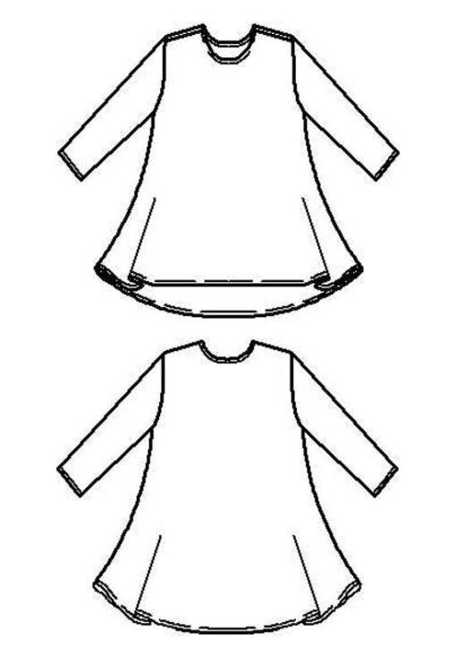 Swing Tee line drawings